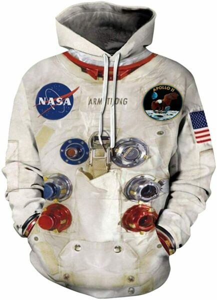 Chaos World Men#x27;s Hoodie NASA Realistic 3D Printed Sweatshit Hooded Cosplay Cost $69.95