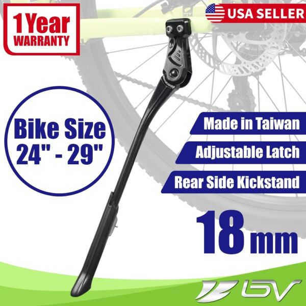 BV Rear Bike Side Kickstand Alloy Mountain Road Bike Stand Adjustable 24quot; 29quot; $15.99