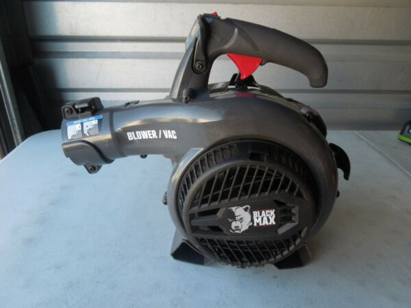 Black Max Powerful 26cc 2 Cycle Engine 400 CFM 150 MPH Gas Blower Vac FS CA
