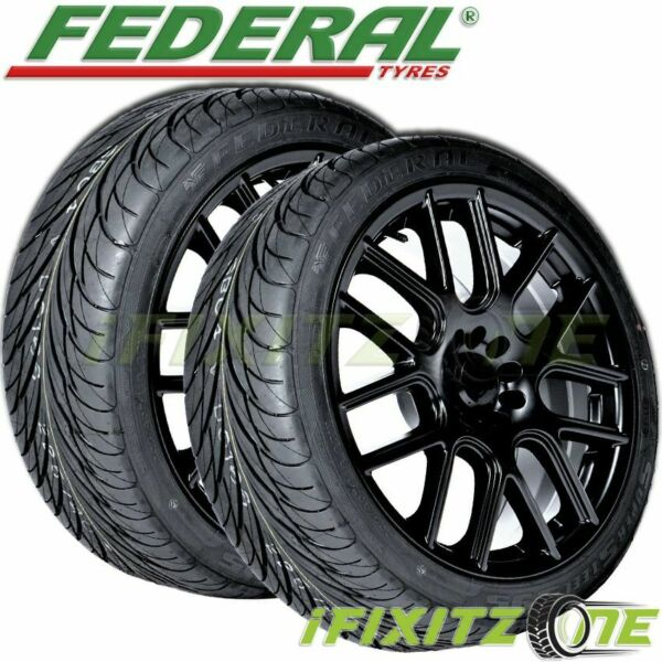 2 New Federal SS595 275 40R17 98V BSW All Season UHP High Performance Tires