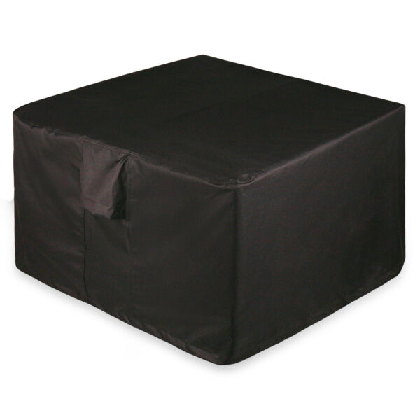Full Coverage Square Fire Pit Bistro Table Cover 44quot; L x 44quot; W x 22quot; H