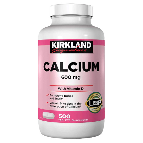Kirkland Signature Calcium 600 mg. with Vitamin D3 500 Tablets FREE SHIPPING $12.99