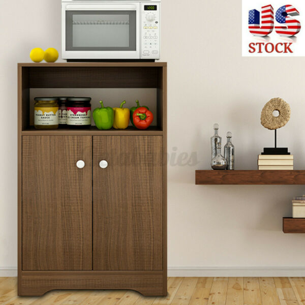 Wooden Kitchen Storage Cabinet Sideboard Buffet Cupboard Door Pantry Home Shelf