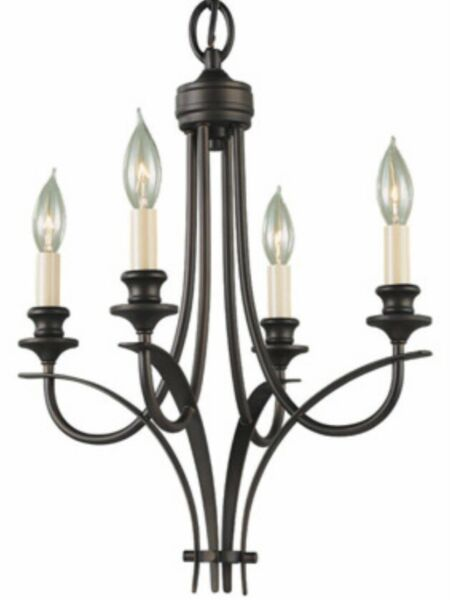4 Light Small Chandelier New With Tag Murray Feis Oil Rubbed Bronze