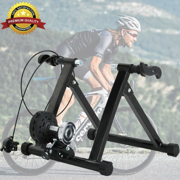 5 Level Resistance Magnetic Indoor Bicycle Bike Trainer Exercise Stand Black $79.99