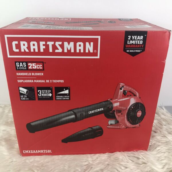 CRAFTSMAN LEAF BLOWER 25 cc 2 Cycle 200MPH 430 CFM Handheld Gas BLOWER NEW