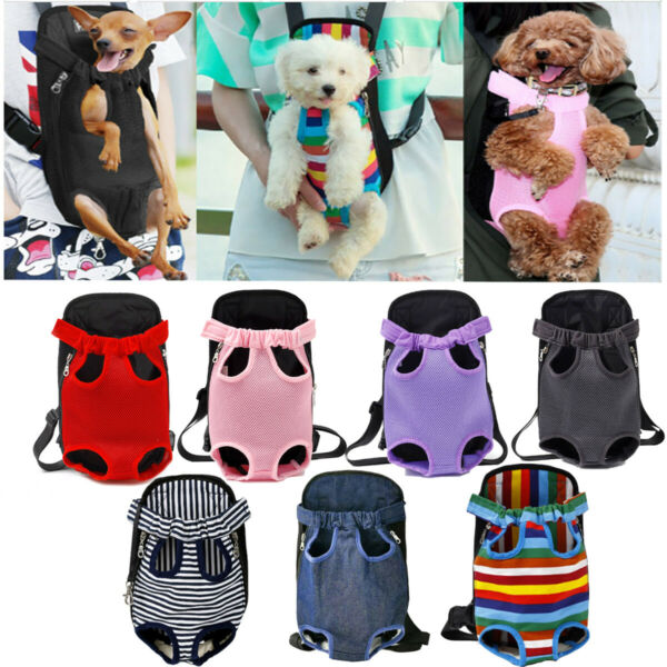 Legs Out Front Dog Carrier Hands Free Adjustable Pet Cat Puppy Backpack Carrier $10.46