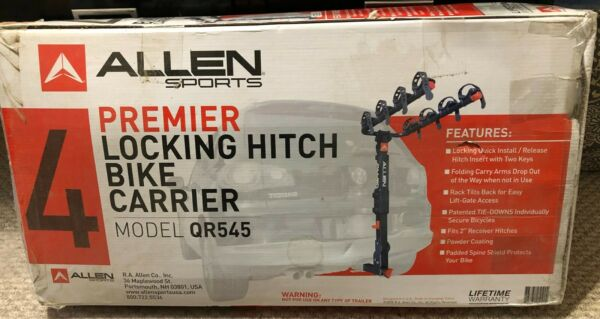 QR545 Allen Sports Premier Locking HITCH MOUNTING Bike Carrier $145.00