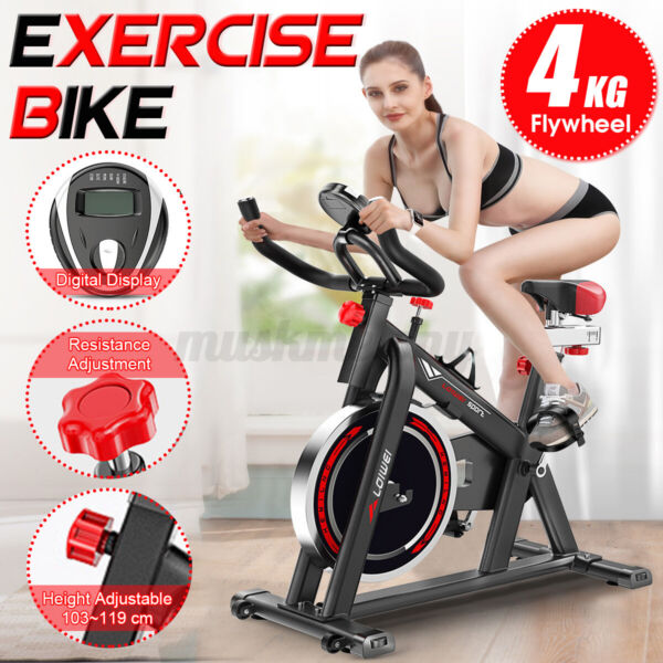 Exercise Bike Indoor Cycling Bicycle Stationary LCD Display Home Cardio Gym $157.74