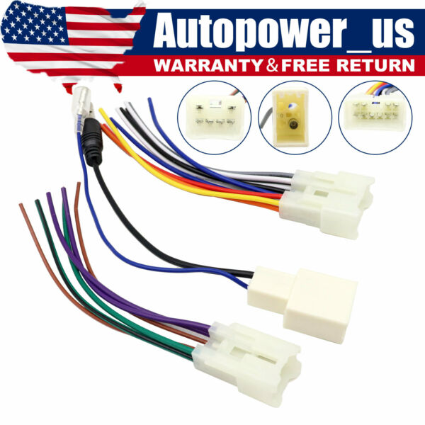 For Toyota Aftermarket Radio Stereo Install Power speaker Wire Antenna Harness $8.29