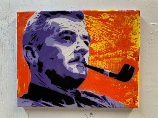 William Faulkner 8quot;x10quot;x1quot; Painting on Canvas Author Planet Giggles South Art