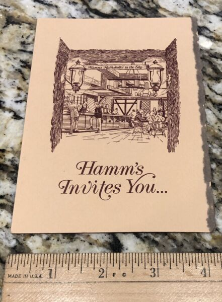 Rare Hamm#x27;s Beer Rathskeller Company Invitation St Paul Minnesota. Free Shipping