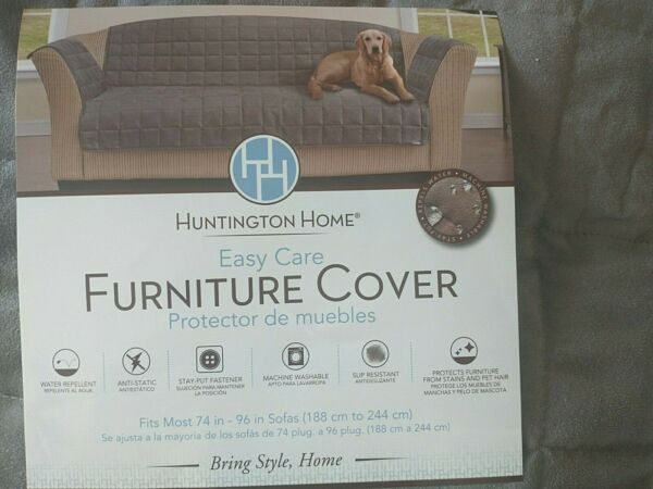 Huntington Home Sofa Pet Cover Grey NIP $23.99