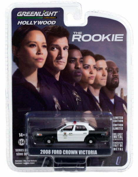 Greenlight Ford Crown Victoria Police Interceptor 08 LAPD The Rookie 44900 1 64 $6.99