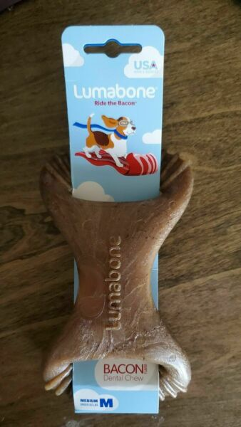Lumabone Real Bacon Flavored Dental Dog Medium Chew Toy $8.50