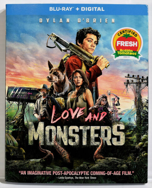 LOVE and MONSTERS Blu ray Disc Digital Copy Slipcover NEW SEALED $16.99
