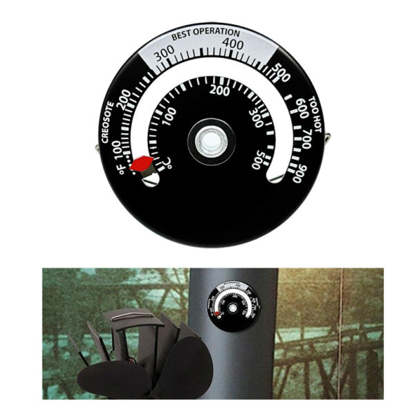 Magnetic Wood Stove Thermometer Fireplace Flue Pipe Heat Temperature Gauge $8.78