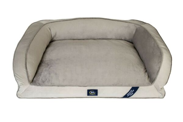 SertaPedic Memory Foam Couch Extra Large Pet Bed Grey 44 Inches Eco Poly NEW $54.10