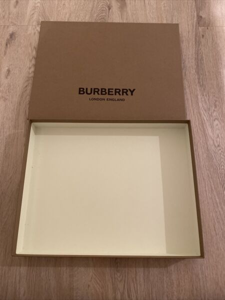 "Burberry Gift Box 12"" x 10"" x 2"" $14.99"