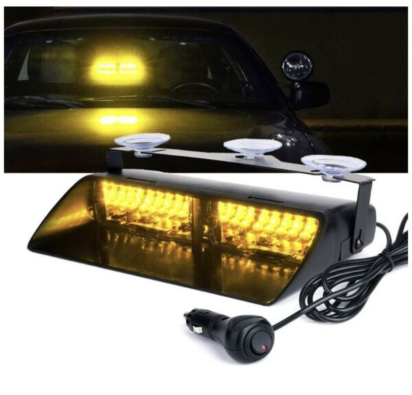 NEW WHELEN LED COMPATIBLE DUAL DASH DECK LED LIGHT AMBER AMBER amp; 5YR WARRANTY