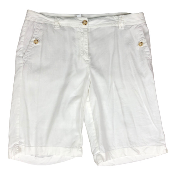 J. Jill Linen Stretch White Shorts Size 10 10quot; inseam $14.99