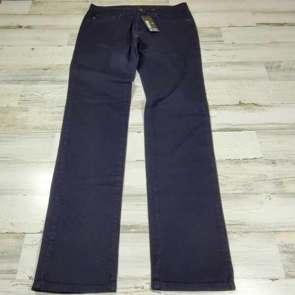 $180 Ice Iceberg Blue Men Pants Jeans Size W33 L35 Made in Italy New $79.99