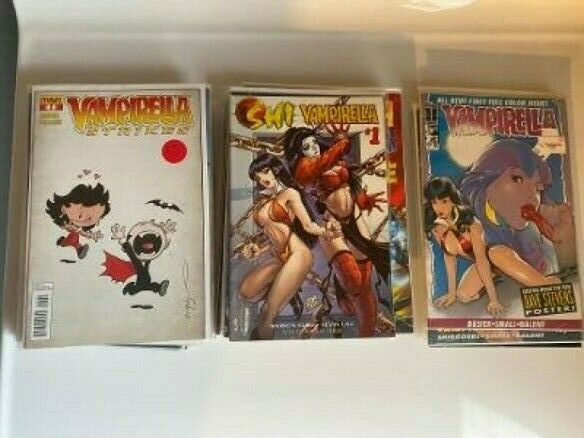 Vampirella 46 issue Lot Linen Cover One Shots Variants Dawn Shi Lady Death $75.00