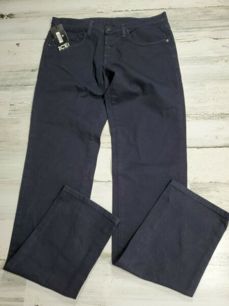 $180 Ice Iceberg Blue Men Pants Jeans Size W32 L33 Made in Italy New $69.99