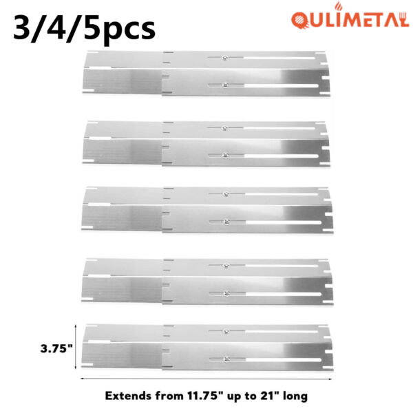Universal Replacement Adjustable Heat Plate Shield Flavorizer Bar For Charbroil