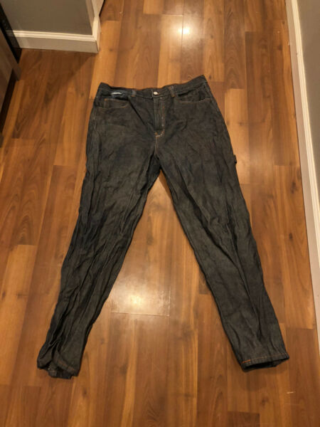 Vintage Ice Iceberg History Jeans Blue W38 L34 Made In Italy Heavy Duty Jeans $32.00