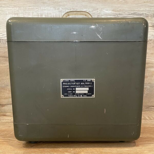 Vintage Signal Corps U.S Army Projector Set Metal BOX ONLY Federal Mfg AN PFP 1