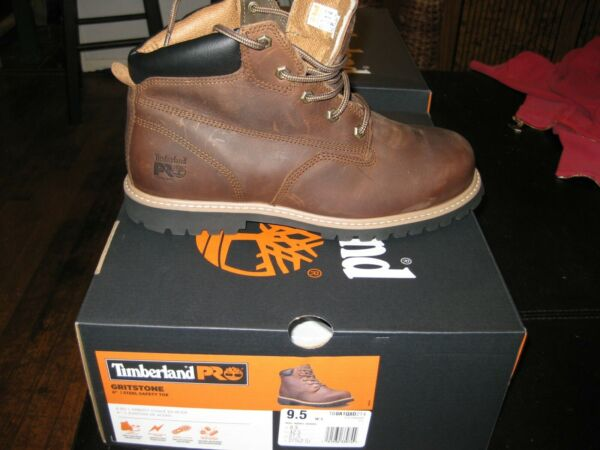 Timberland PRO Gritstone Work Safety Steel Toe Boots Size 9.5 Brown $60.00
