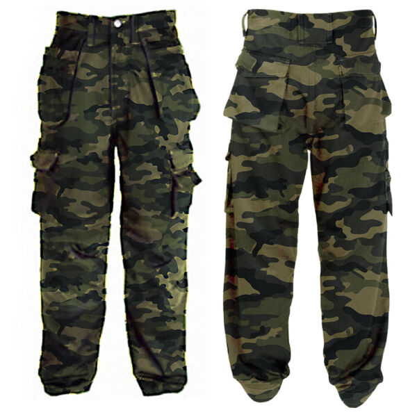 Men#x27;s Camouflage Army Work Military Cargo Combat Trousers Tactical Pants USA