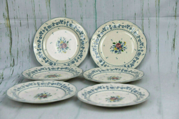 6 Tablemates Homestead Collection Flower Garden Bread Butter Plates Maylasia