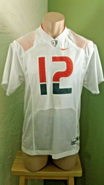 "Authentic Miami Hurricanes ""The U"" Nike Football Jersey Jim Kelly Sz S"