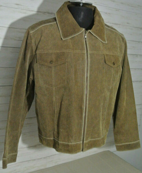MINTY BKE 67 Buckle LARGE Mens Brown SUEDE LEATHER Jacket Coat Lined Motorcycle $39.99