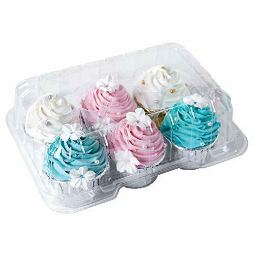Clear Cupcake Boxes 6 Cavity Holder Large 6 Compartment Muffin Containers