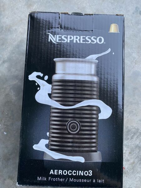 NEW Nespresso Aeroccino 3 BLACK US Automatic Electric Milk Frother