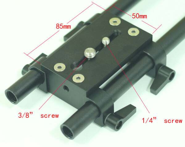 15mm railblocks with Tripod Mounting Plate for 15mm Rod clamp support DSLR Rig