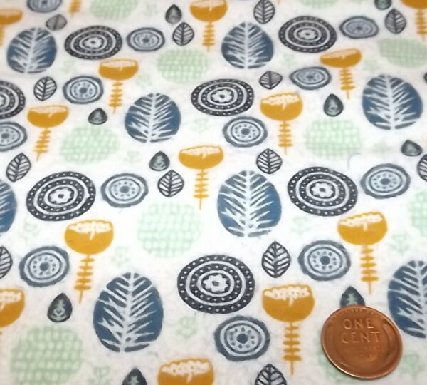 Quilt Fabric 1 2 yard quilting Fabric Vintage Flannel Hancock Fabric blue green
