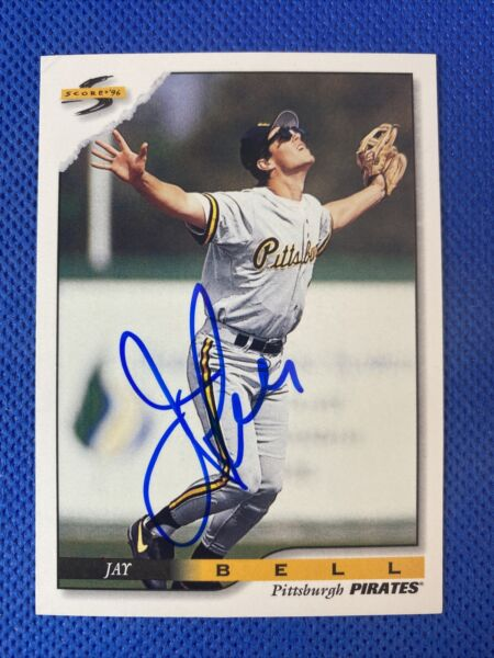 1996 Score Jay Bell #300 Auto Signed Autograph Pirates $8.00
