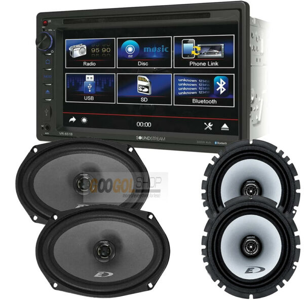 VR651B Dounble DIN 6.2quot; Bluetooth Car Stereo Alpine SXE series coaxial speakers