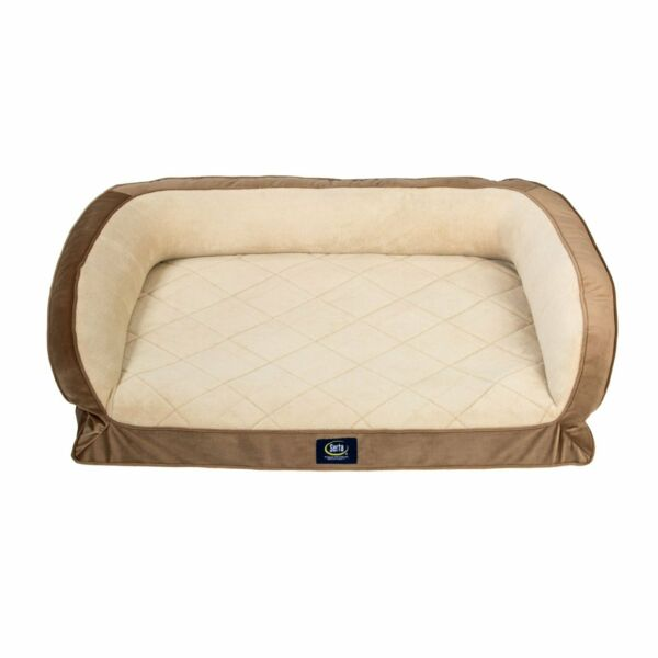 Serta Orthopedic Memory Foam Couch Pet Soft Large Sleep Bed L Dog Pillow Brown $48.39