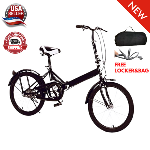 20 Inch Folding Bike 7 Speed Adult Men And Women Teens Light Weight Gray Color $149.95