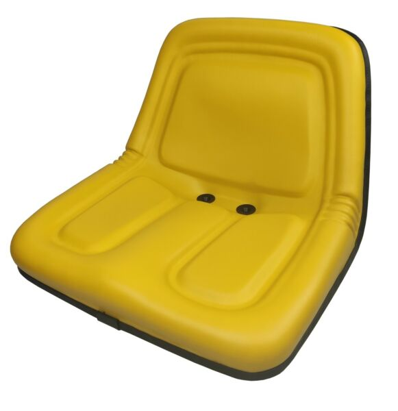 Yellow Steel Pan Vinyl Mower Seat John Deere 318 322 330 332 400 420 430