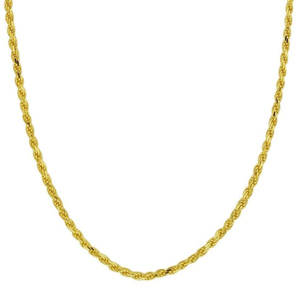 10k Yellow Gold Chain Necklace Rope Curb Figaro Diamond Cut Real 10K Gold Chain