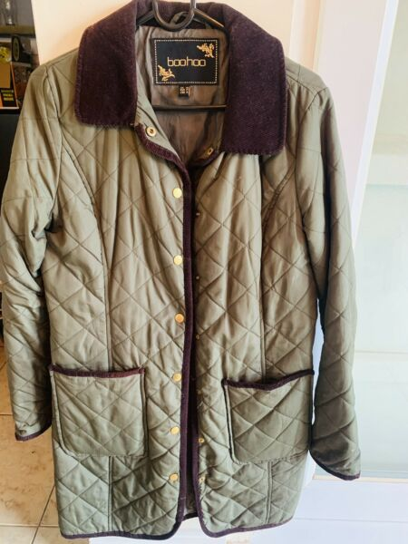 Ladies Country Quilted Jacket By Boohoo size 12 GBP 4.00