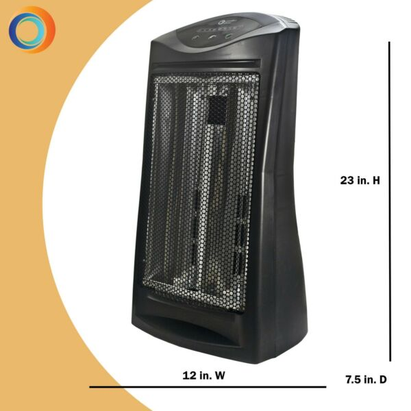 Comfort Zone Electric Heaters Energy Save Electronic Quartz Radiant HeaterBlack