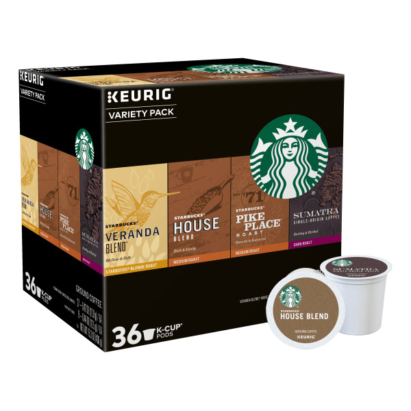 Starbucks K Cup Pods Variety Pack 15.2 Oz Pack Of 36 Pods