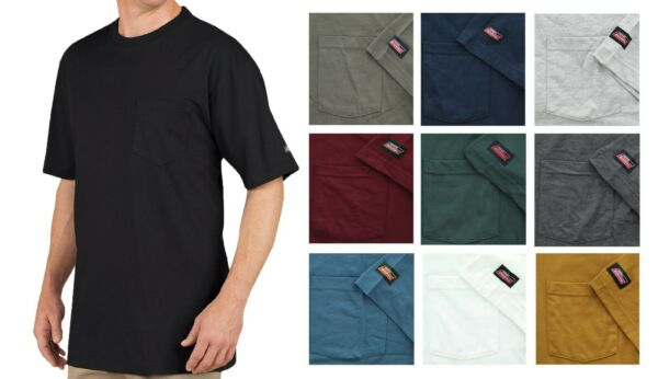 Dickies Men#x27;s T Shirt Short Sleeve Long Length Lightweight Cool amp; Dry Pocket Tee